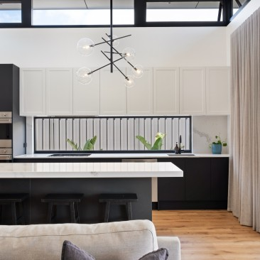 Open plan kitchen and living space with plenty of natural light, Harris Street, Glenelg East