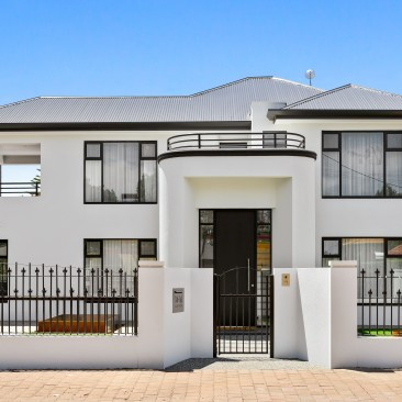 Original Art Deco facade of magnificent house in Allen Grove, Unley