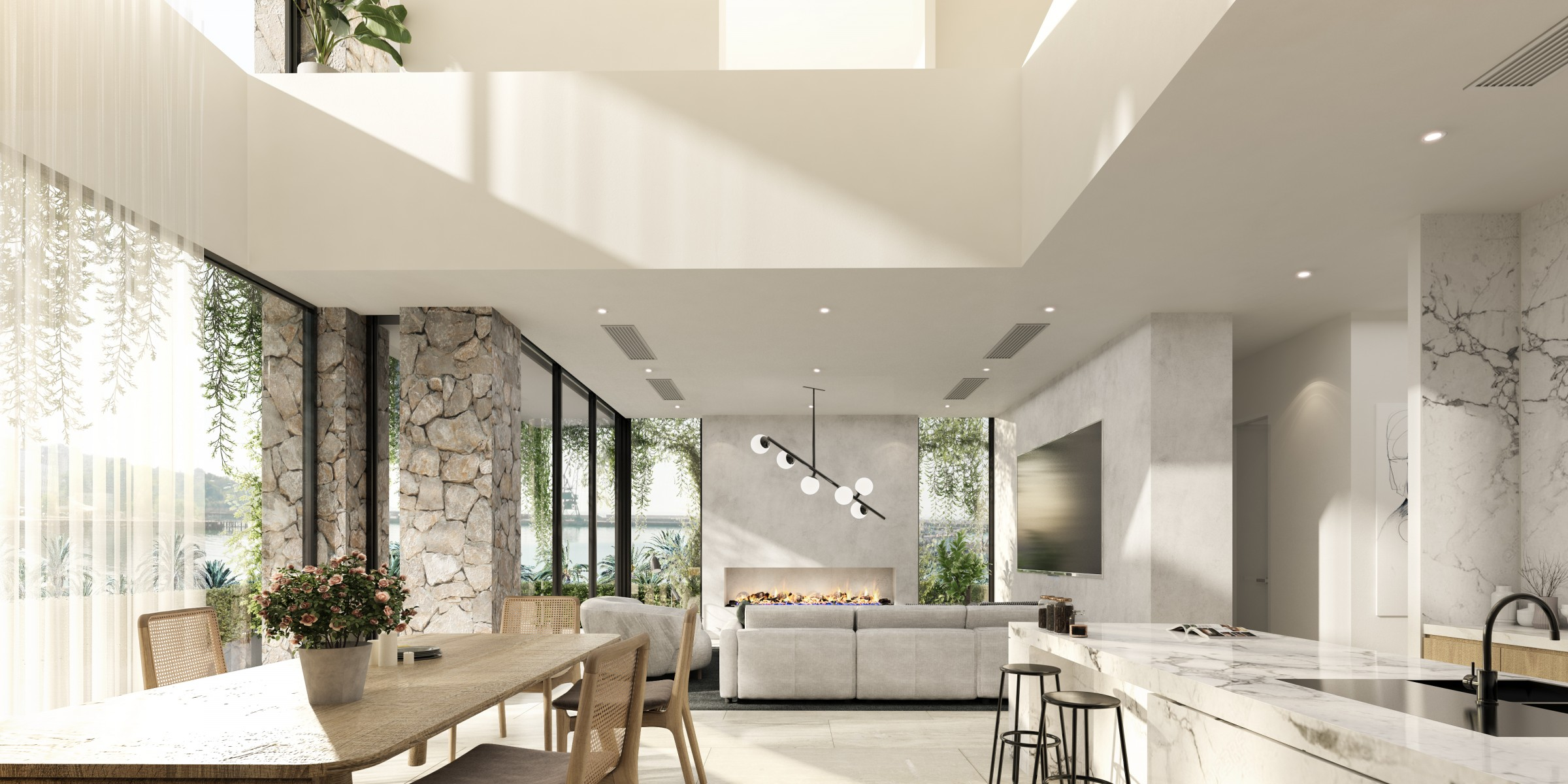 Light filled open plan living area, Beeston Way, West Lakes