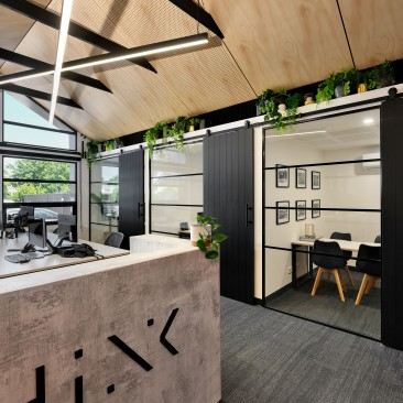Reception area of light filled Think Architects studio