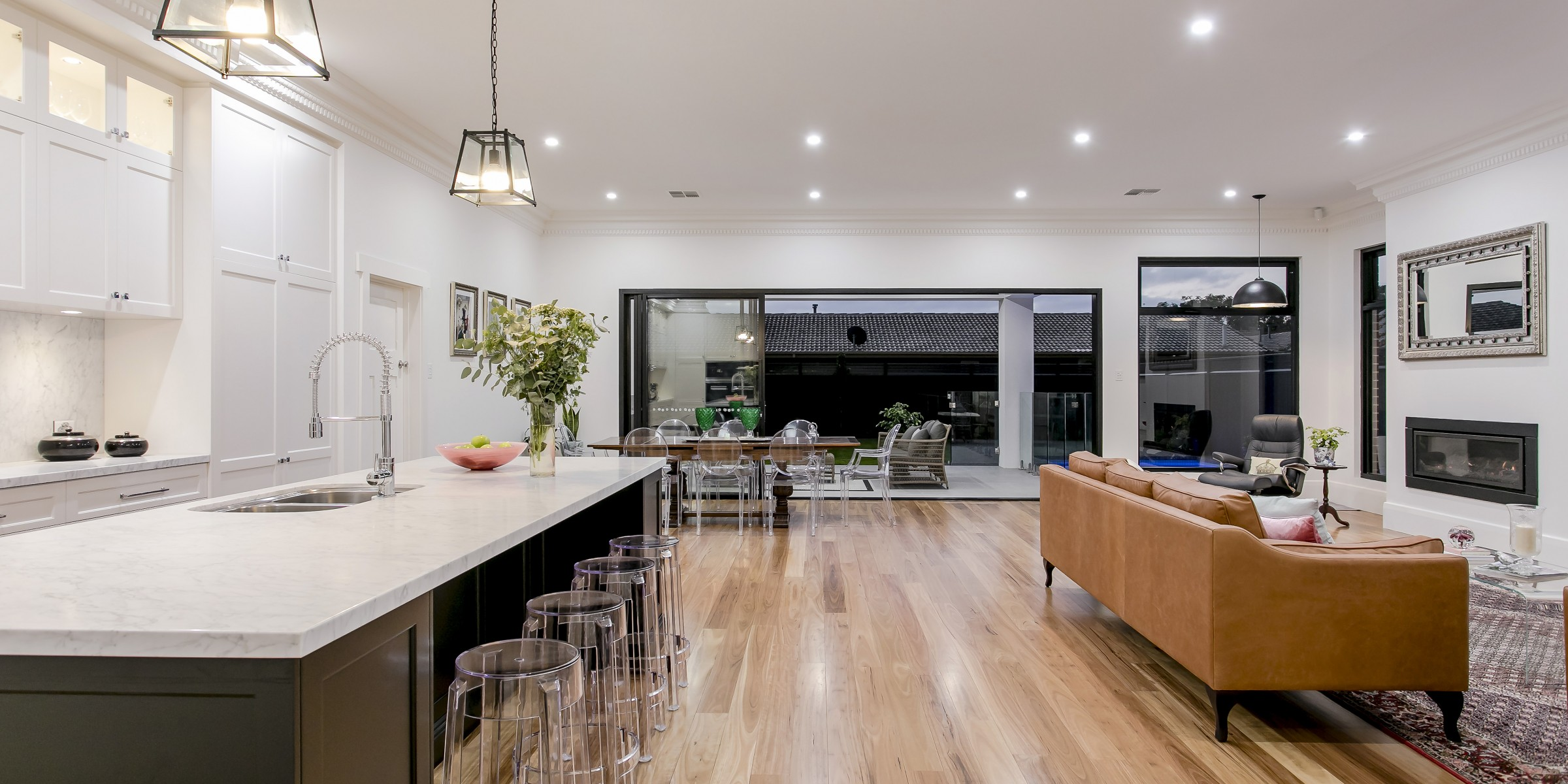 Interior architecture of new extension to bungalow, Wilcox Street, Prospect