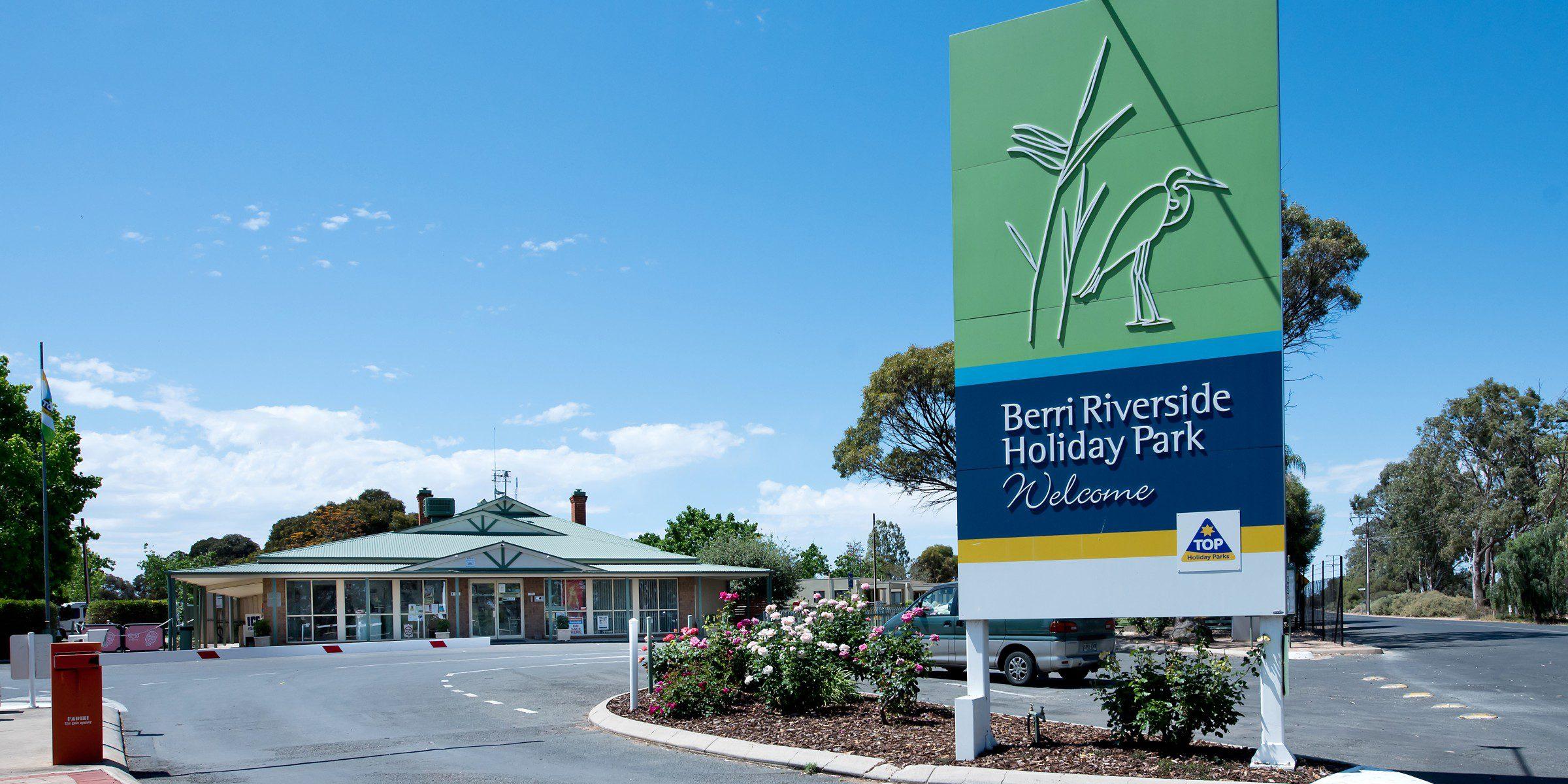 Berri Riverside Holiday Park main entry