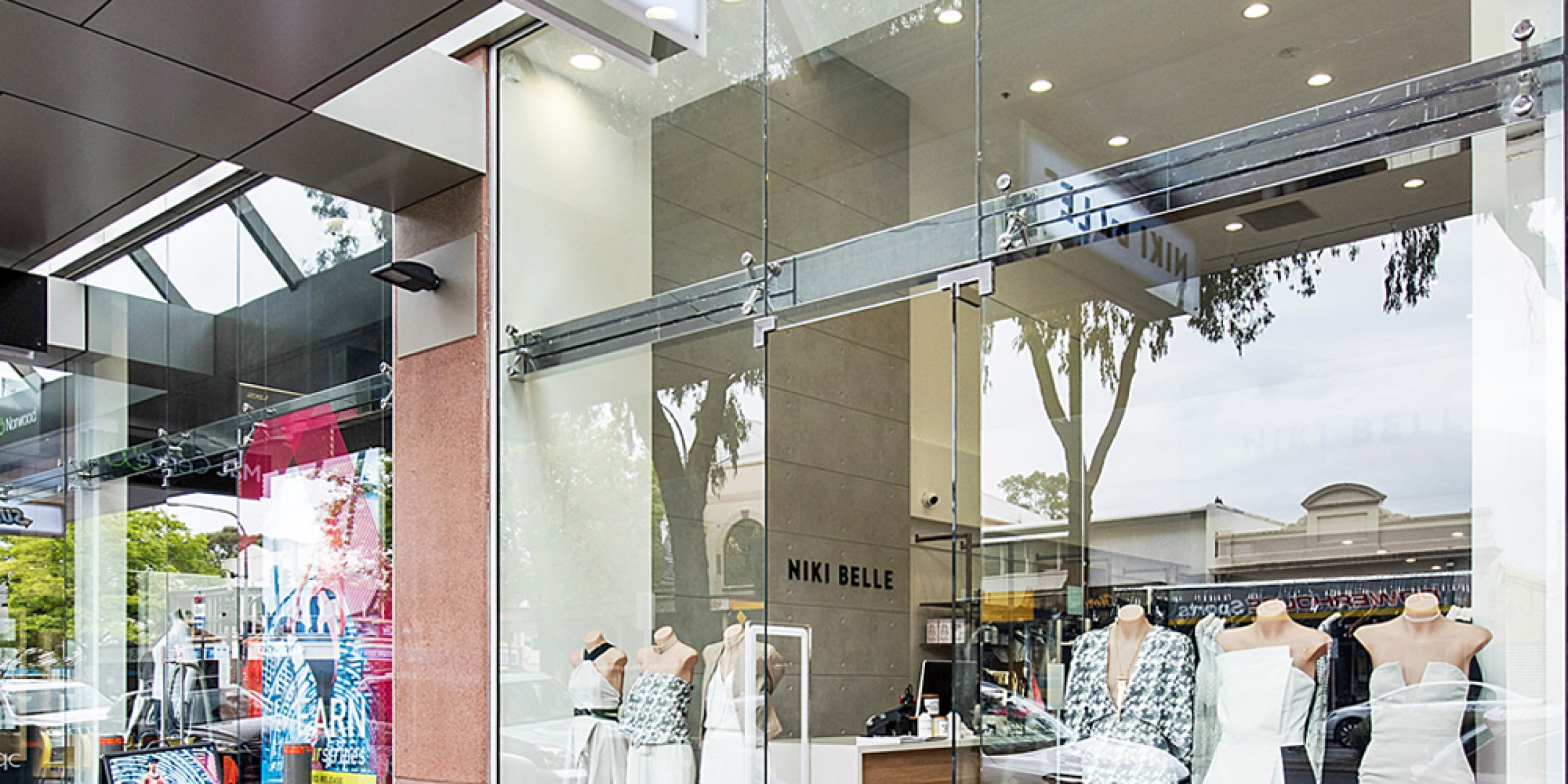 Nikki Belle commercial architecture store entry perspective