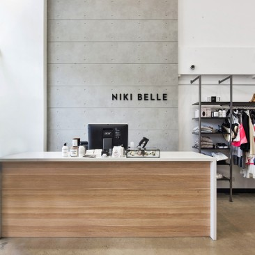 Nikki Belle interior architecture front counter