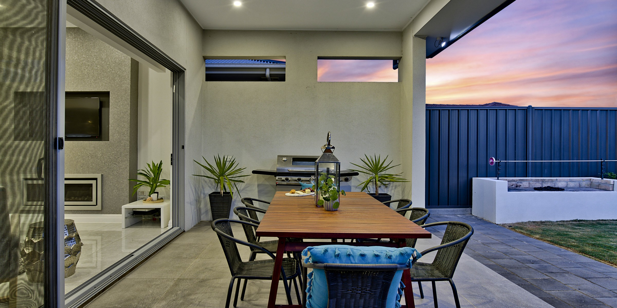 Hill Street Residence Henley Beach living and alfresco