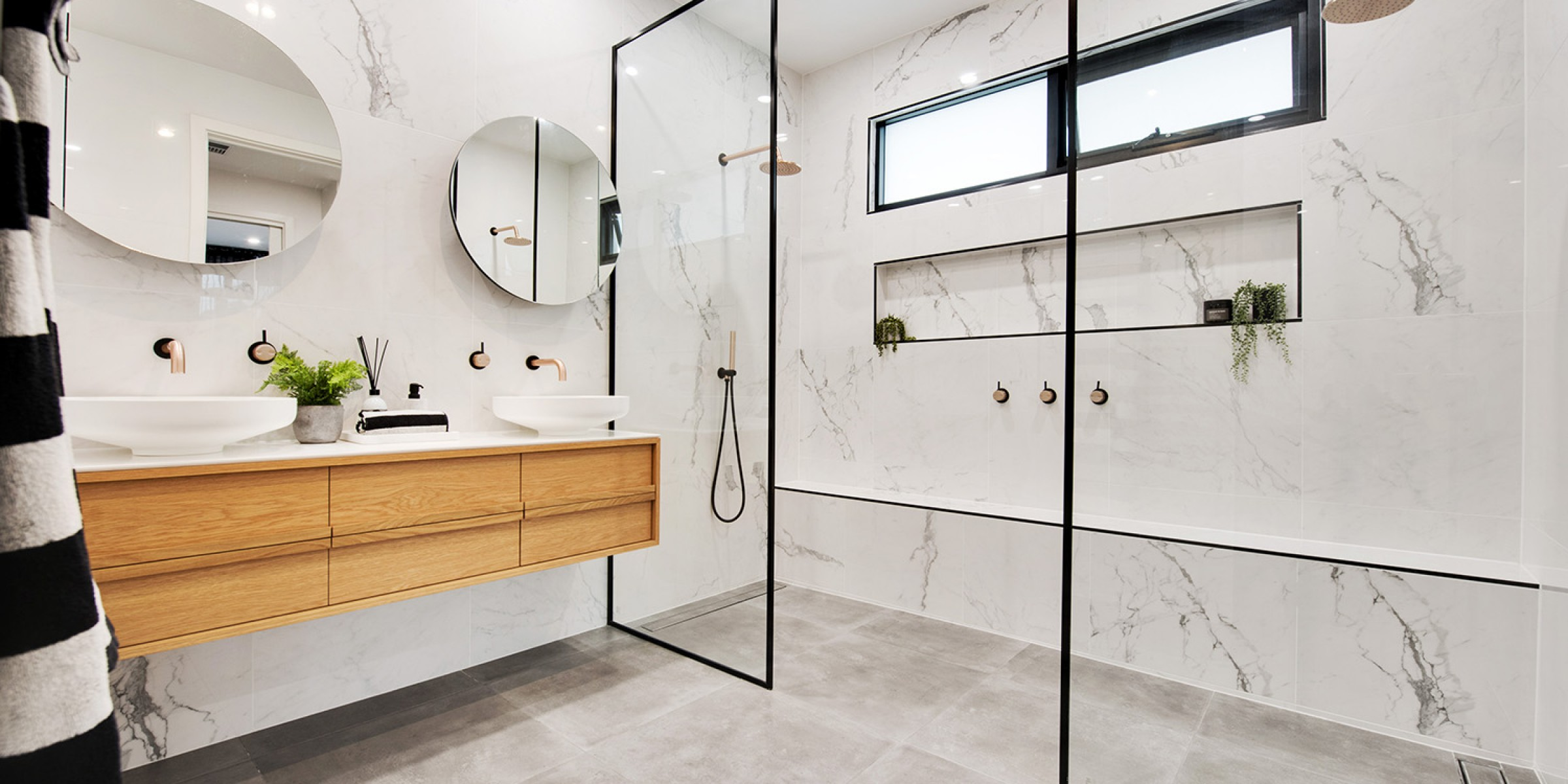 Moore Street Residence Somerton Park bathroom details